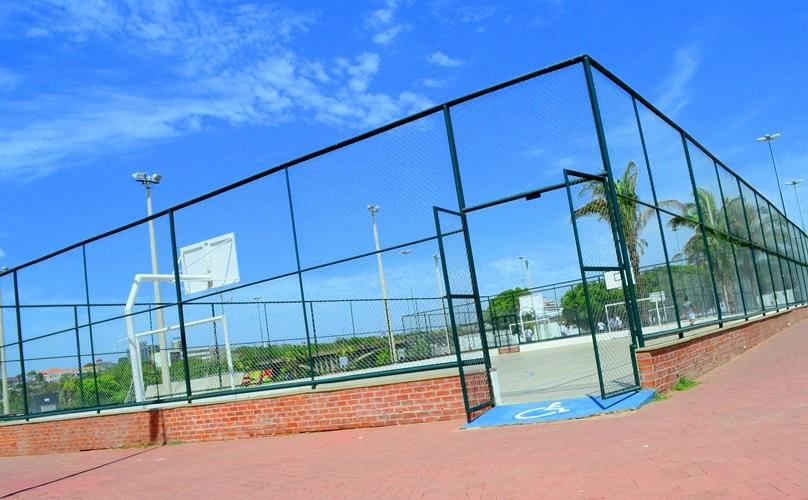 Espaços esportivos que permanecerão interditados no parque potycabana - Foto: Reprodução/Internet
