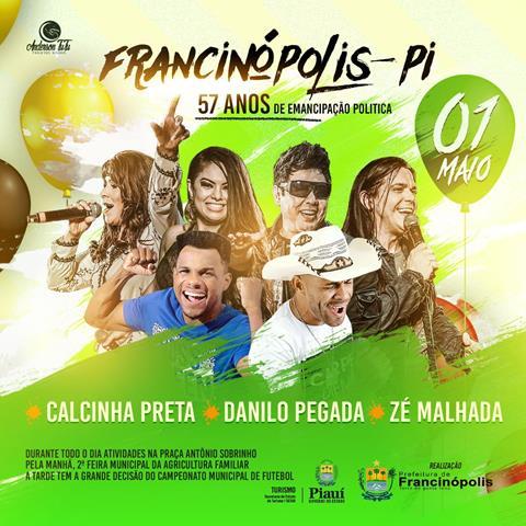 b6418babf Banda Calcinha Preta fará show no aniversário de Francinópolis