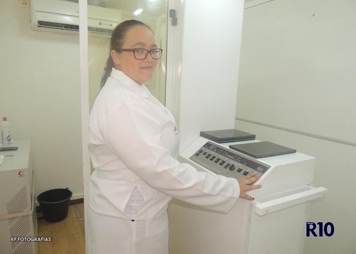 Viviane Sampaio técnica em Raio X