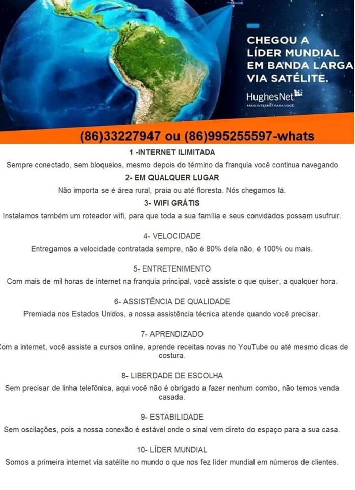 Internet via satélite HughesNet