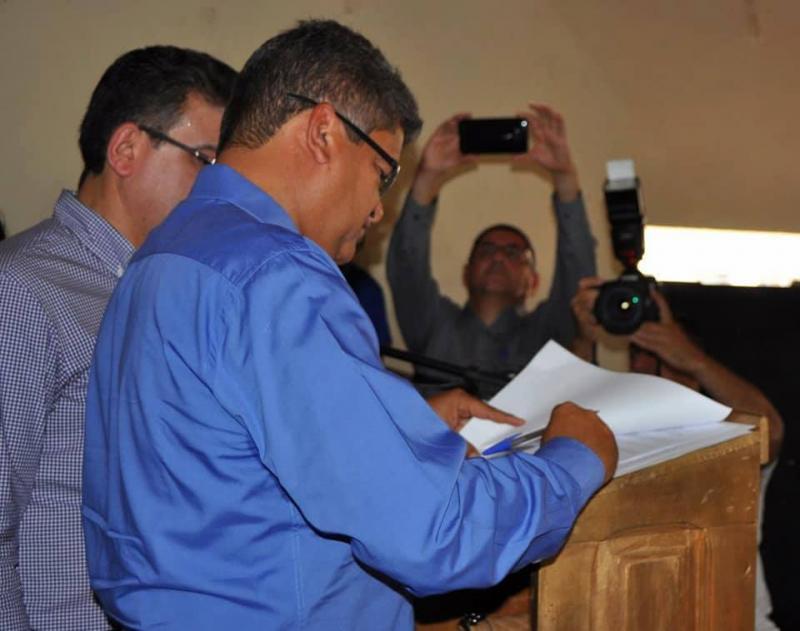 Assinada ordem de serviço de revestimento primário da PI- 412