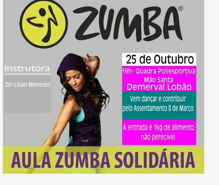 'Aula Zumba Solidária' em Demerval Lobão (PI)