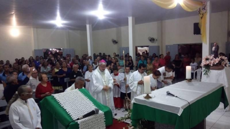 Bispo Dom Marcos Tavoni celebra nos Festejos de Santo Antônio em Gilbués