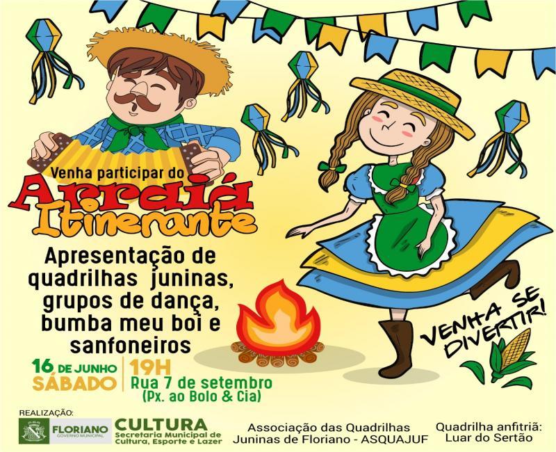 Secretaria de Cultura promove 'Arraiá Itinerante' para promover cultura junina em Floriano