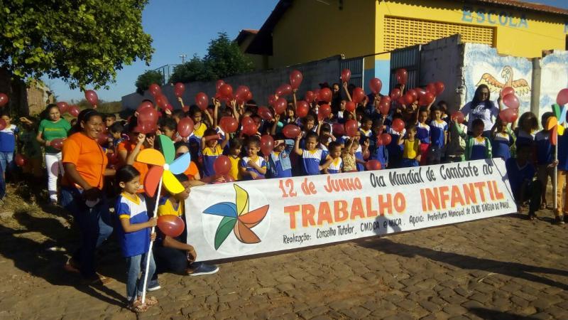 Prefeitura de Olho D'agua realiza campanha de combate ao trabalho infantil