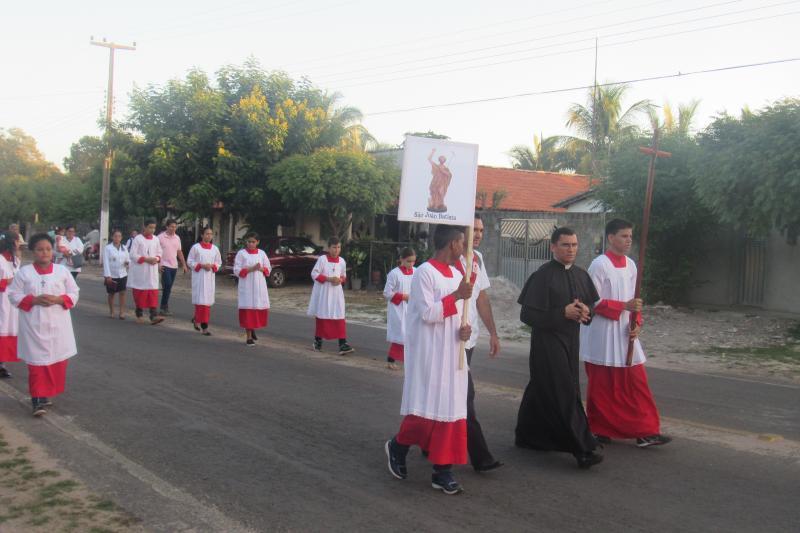 Teve início os festejos do Padroeiro São João Batista em São João do Arraial nesta quinta feira 14