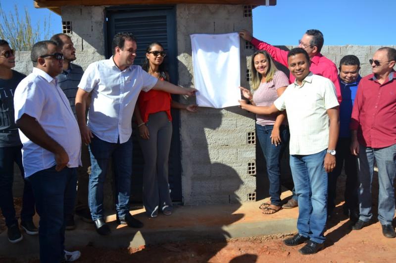 Inauguração do novo abastecimento d'água no bairro Novo Amarante