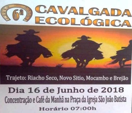 6ª Cavalgada Ecológica acontecerá neste sábado (16) em Barro Duro
