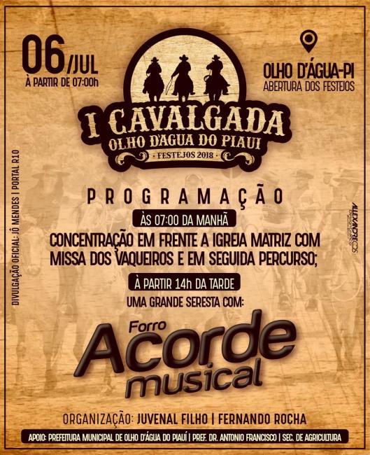Festejo| vem aí a 1° Cavalgada de Olho D'água do Piauí