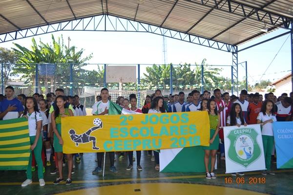 Jogos escolares na Escola CEEPRU em Colônia do Gurgueia