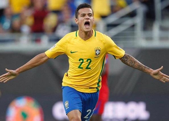 Philippe Coutinho é eleito melhor jogador do Brasil na estreia