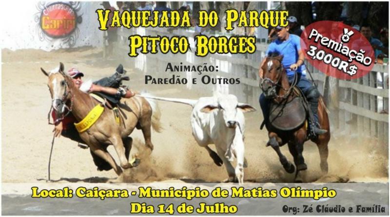 Grande Vaquejada no Povoado Caiçara municipio de Matias Olímpio