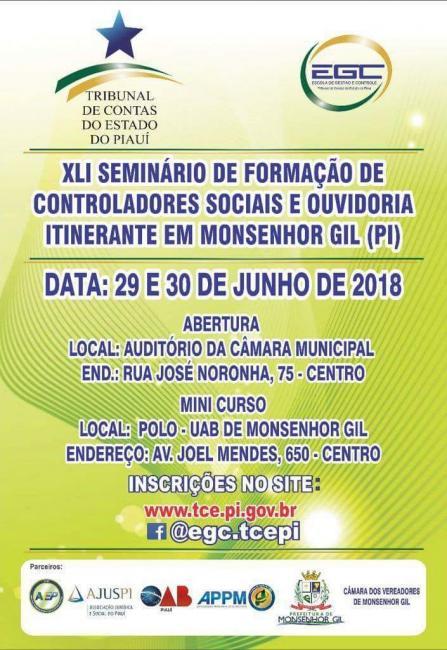 Mini-curso gratuito | inscrições abertas para formação de controladores sociais