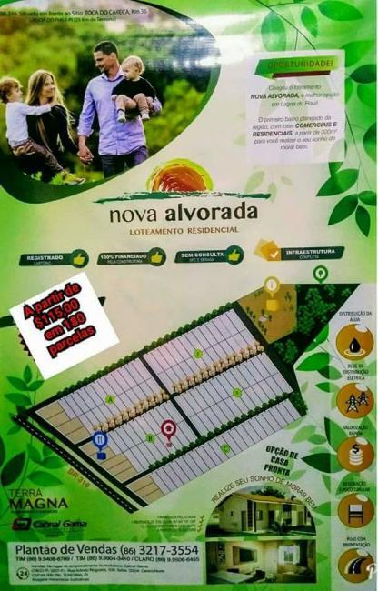 Empreendimento | loteamento 'Nova Alvorada' na BR 316 com as melhores facilidades de pagamento