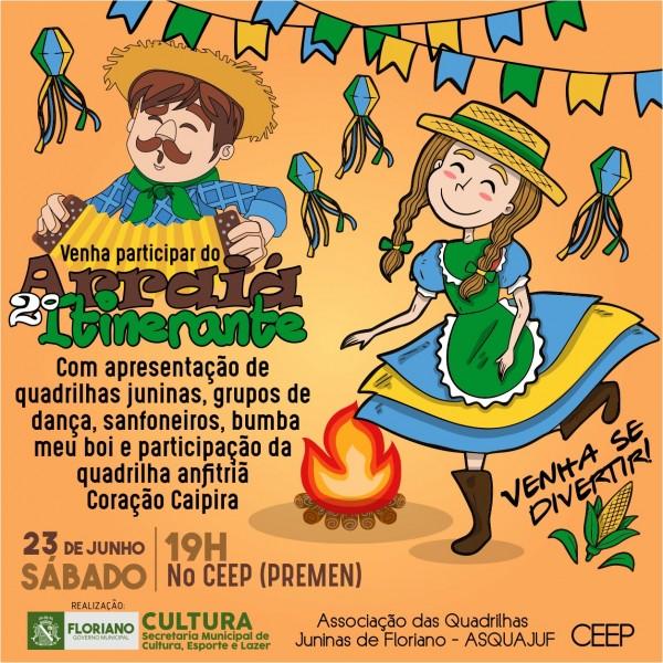 Secretaria de Cultura realizará II 'Arraiá Itinerante' neste sábado (23)