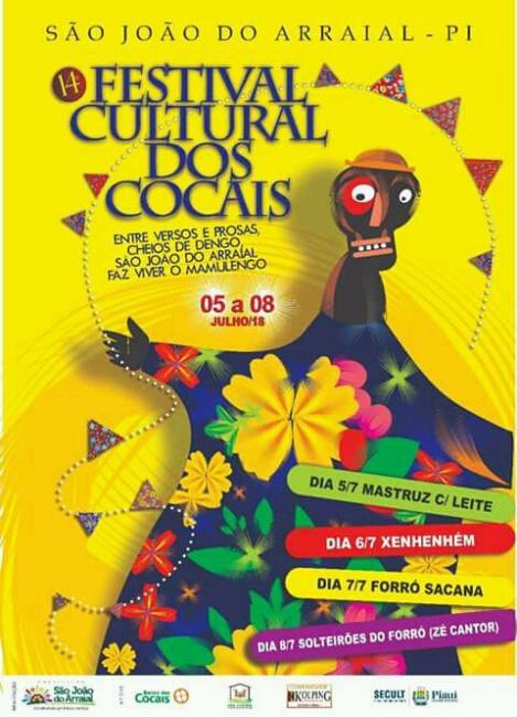 Veja os grupos que disputarão o concurso regional de quadrilhas no XIV Festival Cultural dos Cocais