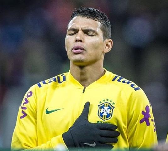 Thiago Silva será o capitão do Brasil no duelo contra a Costa Rica