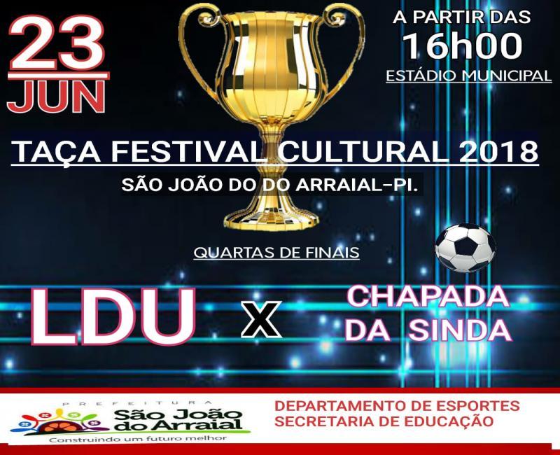 LDU e Chapada da Sindá se enfrentam neste sábado no estádio de São João do Arraial