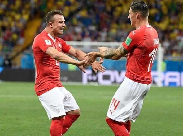 Suíça derrota a Sérvia e deixa Brasil na liderança do Grupo E