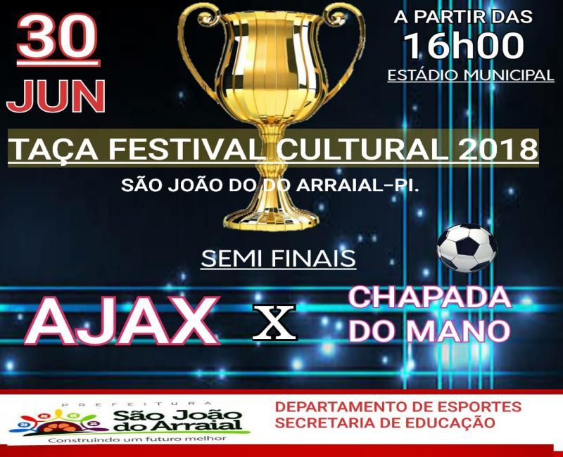 Ajax e Chapadinha do Mano se enfrentarão sábado no estádio de São João do Arraial