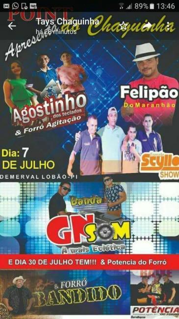 Demerval Lobão | imperdível! show com 03 bandas no 'Point do Chaguinha', dia 07 de julho; confira