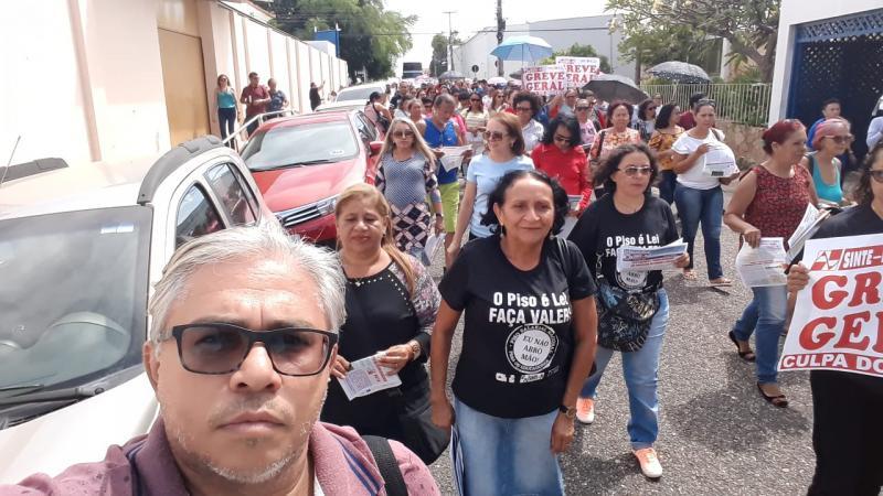 Demerval Lobão | diretoria do SINTE regional participa de manifestação em Teresina