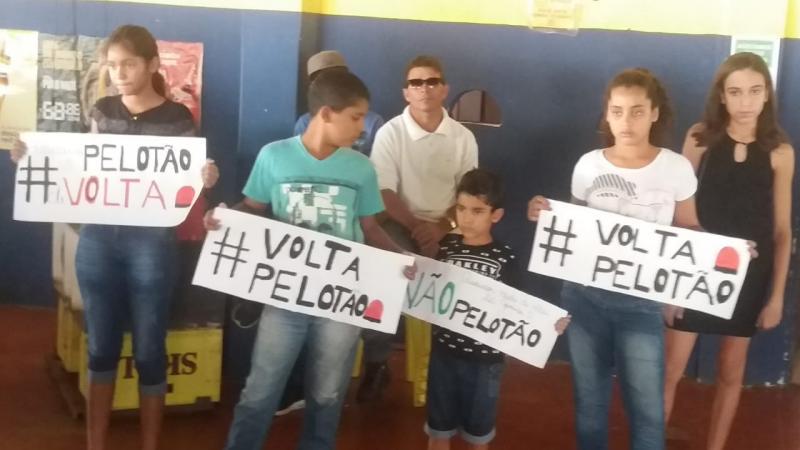 Crianças cobraram a continuidade do projeto pelotão Mirim em solenidade da Polícia Militar