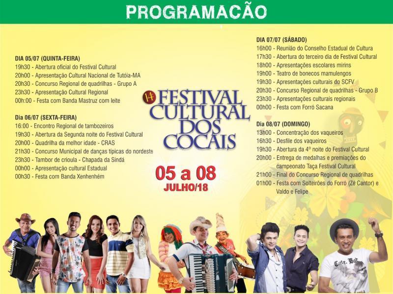 Contagem regressiva para o XIV Festival Cultural dos Cocais em São João do Arraial