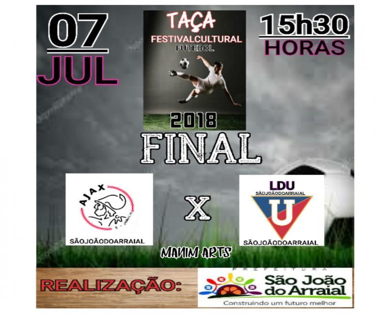 Final da Copa Taça Festival Cultural 2018 acontece no sábado em São João do Arraial