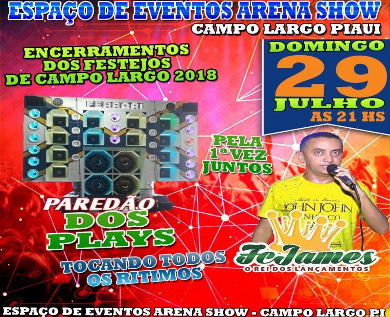 Confira agenda de Shows do Arena Show nos festejos de Campo Largo