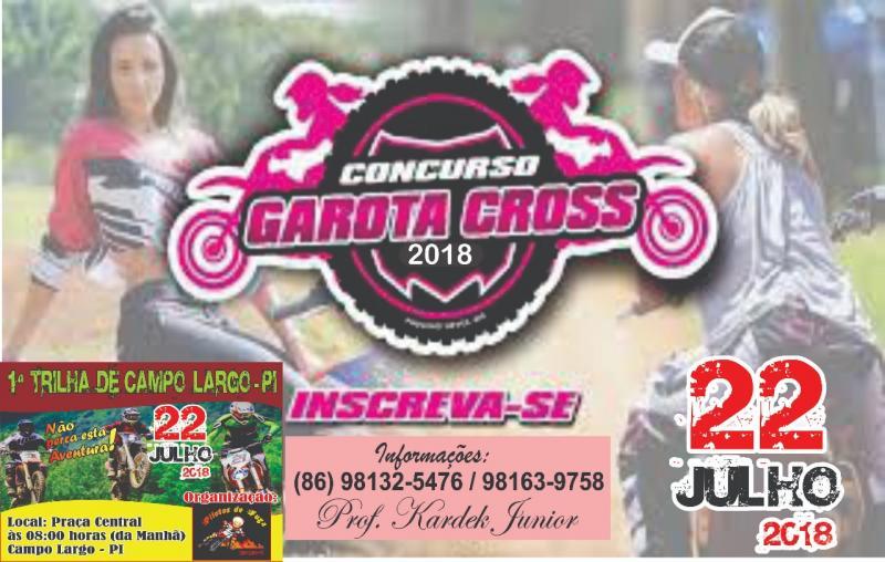 I Concurso Garota Cross neste 22 de Julho em Campo Largo do Piauí do Piauí-PI