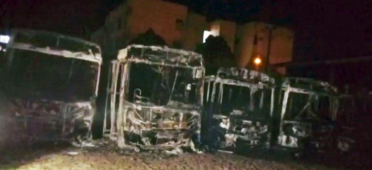 Incêndio em garagem da Taguatur em Teresina destrói seis ônibus