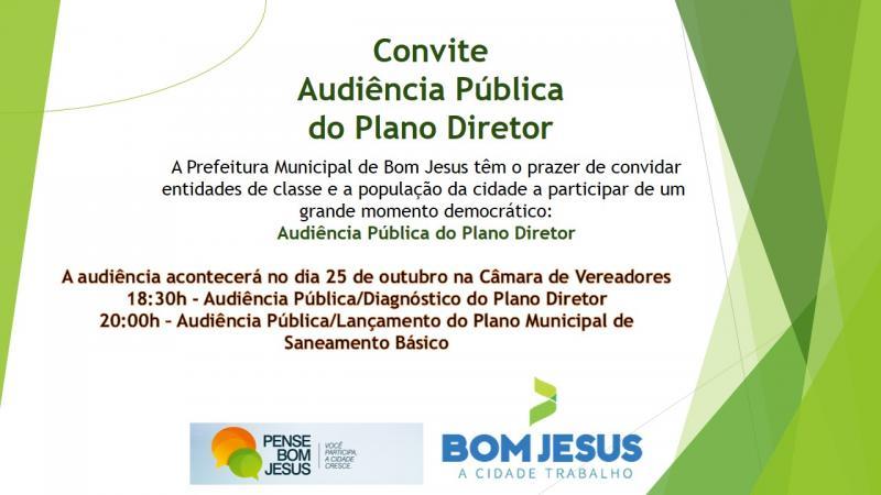 Projeto Pense Bom Jesus promove audiências públicas e seminários hoje e amanhã