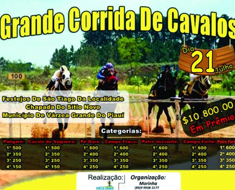 Corrida de cavalos 21 de julho na Chapada do Sítio Novo com mais de 10 mil em prêmios