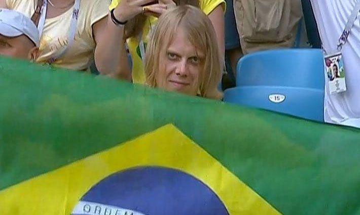 Torcedor russo que virou meme vai ao estádio assistir Brasil x Bélgica