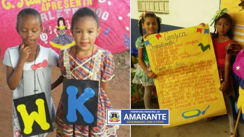Projeto Alfaletrar levando animação junina no Arraiá da Escola tia Suzana em Amarante