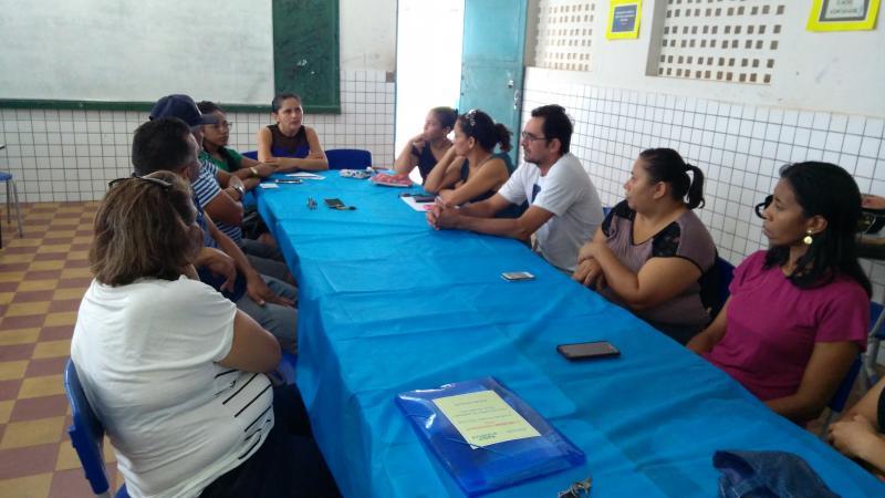 Reunião de encerramento do semestre com profissionais da educação da U.E São José em Campo Largo