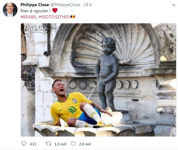 Prefeito da capital da Bélgica zoa Neymar e causa polêmica