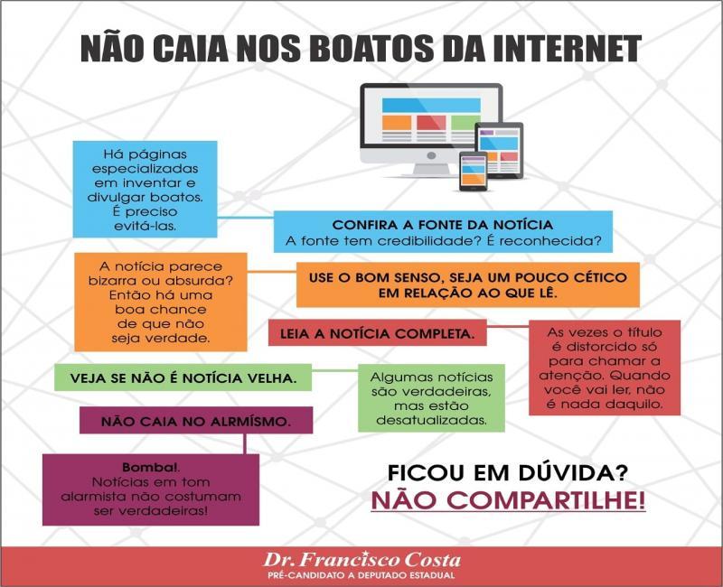 Nota de esclarecimento do Dr. Francisco Costa sobre notícias falsas na Internet