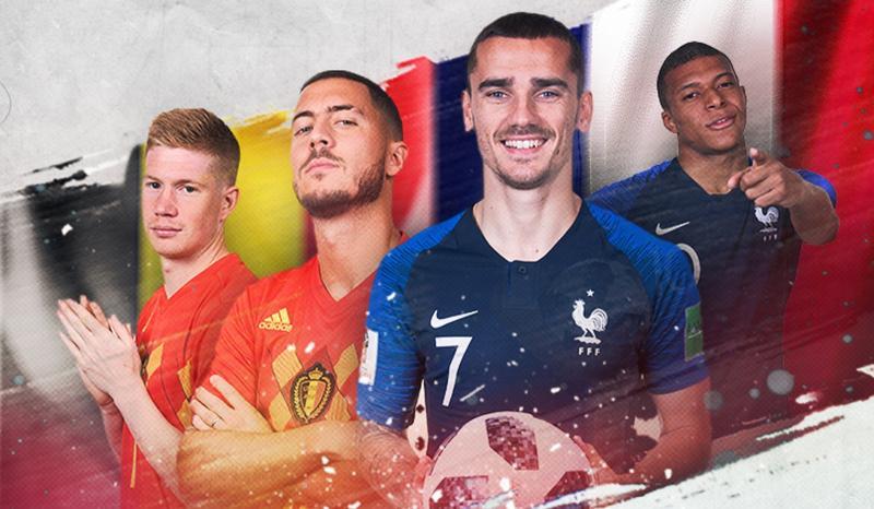 Bélgica e França duelam pela 1ª vaga na final da Copa do Mundo