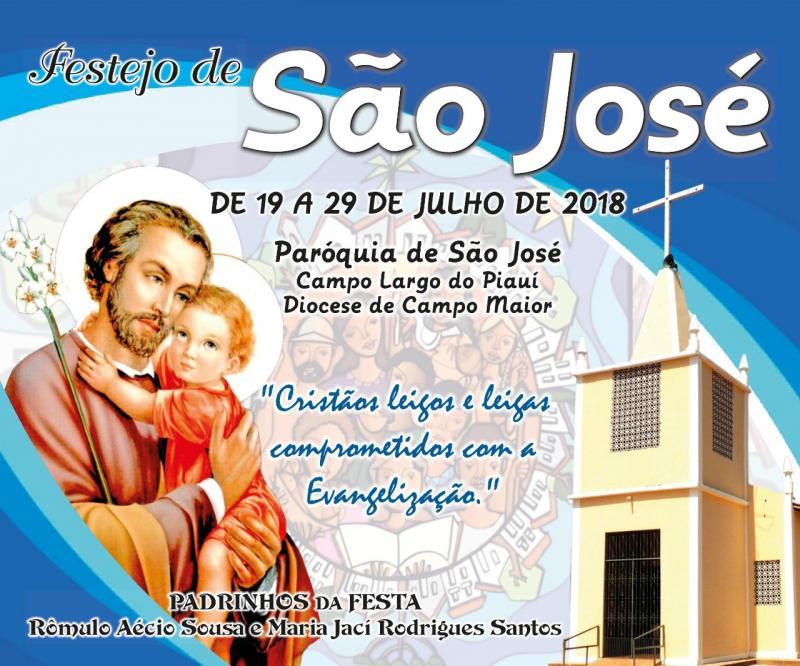 Início dos festejos do padroeiro São José em Campo Largo do Piauí-PI