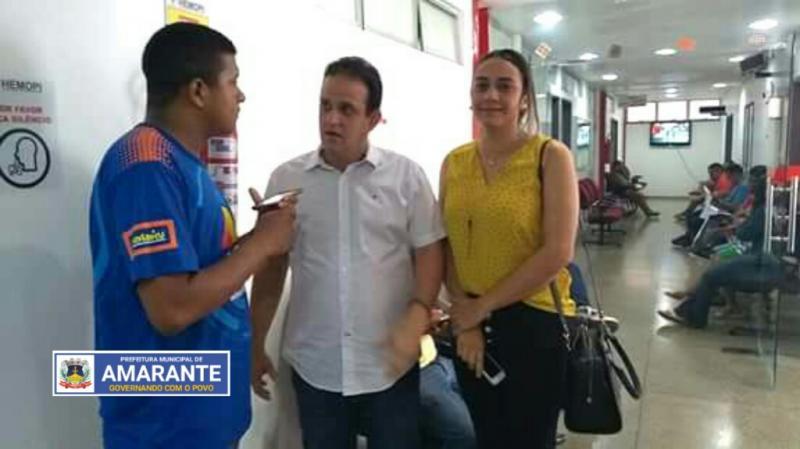 Secretária de Assistência Social de Amarante participa de mobilização para doação de sangue