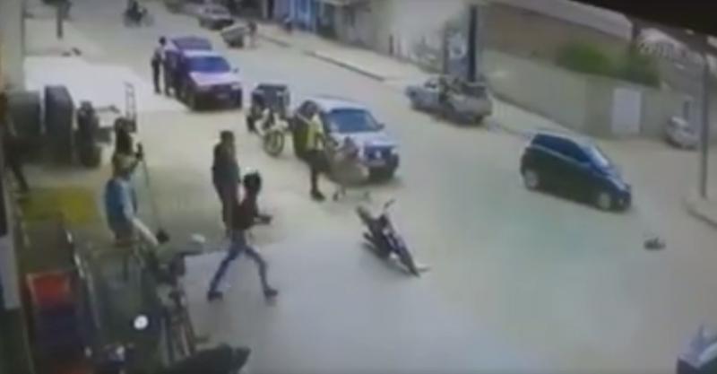 Menino de 6 anos é arremessado por carro e sai ileso; vídeo