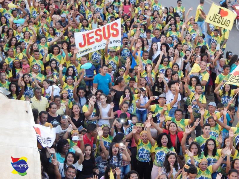 Evangélicos realizam a I MARCHA PARA JESUS de Cristino Castro