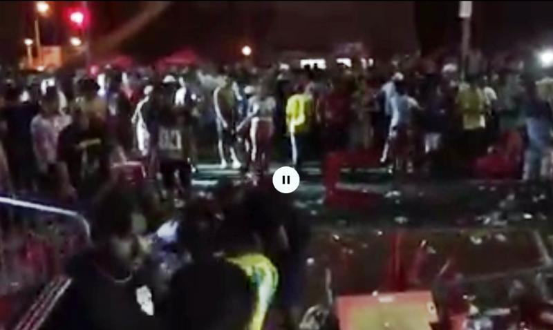 Festa na Ponte Estaiada em Teresina termina em confusão