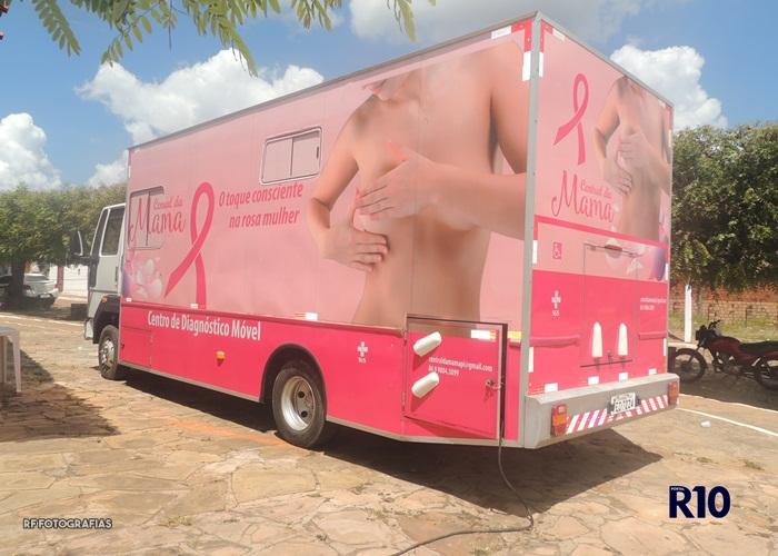 Centro de Diagnóstico Móvel Central da Mama atende em Campo Largo do Piauí-PI