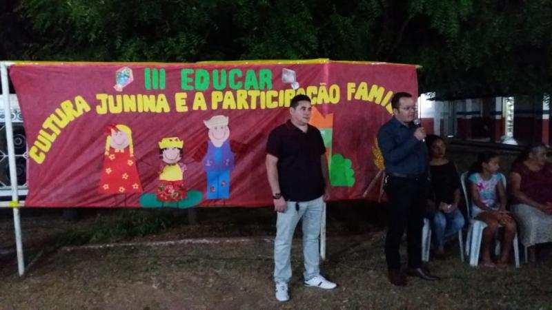 Secretaria de Educação através da Escola Antônio Basílio realiza III edição do Arraiá Educar