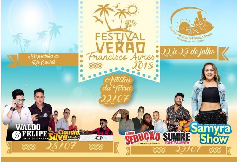 Confira as atrações do Festival de Verão de Francisco Ayres