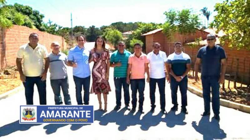 Prefeitura Municipal de Amarante conclui Calçamento da Baixa Verde