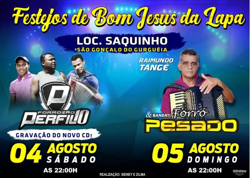 Forrozão perfil 10 irá gravar o mais novo CD no festejos de Bom Jesus da Lapa da comunidade Saquinho